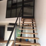 escalier et chassis vitré métal par ferronnerie durand à Hyères Var